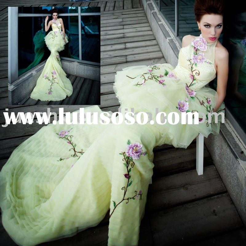 two use short and long mermaid prom dress 36008