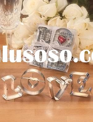 wedding gift of L-O-V-E Cookie Cutter Favors