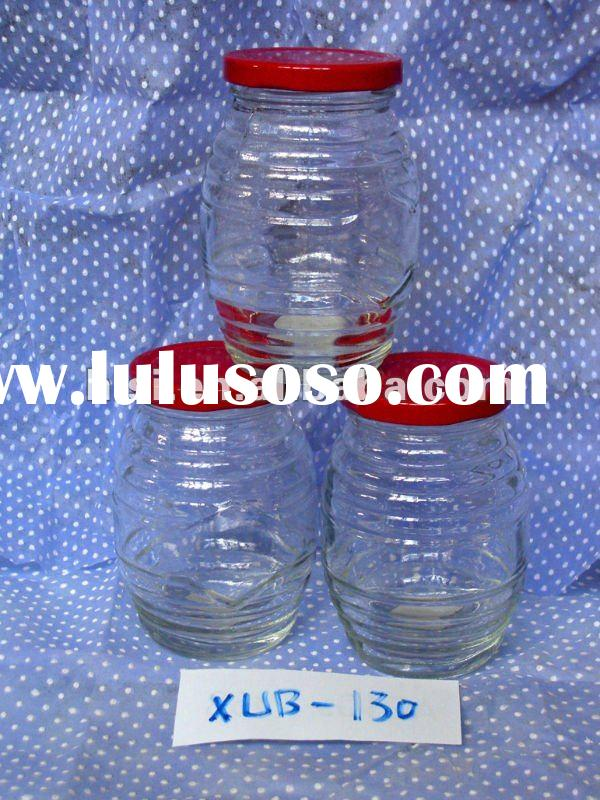 wholesale bottle glass for jam jars and lids or tap