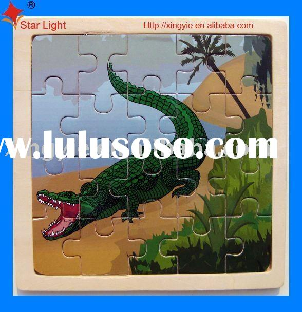 wooden crocodile puzzle for kids