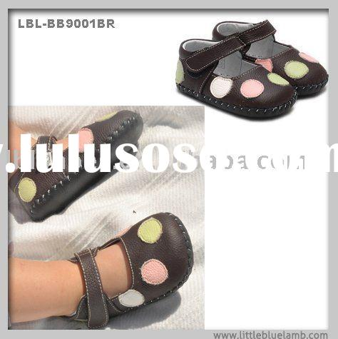 100% genuine leather soft sole baby shoes LBL-BB9001BR