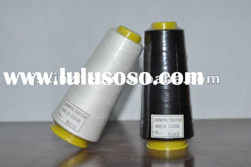 100% polyester sewing thread manufacturers 40/2 1000YARDS