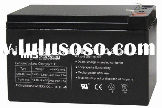12V 7AH(12V7,12v 7.2ah, 12v 7.5ah)VRLA AGM BATTERY,Portable Sealed lead acid Battery,SLA Battery