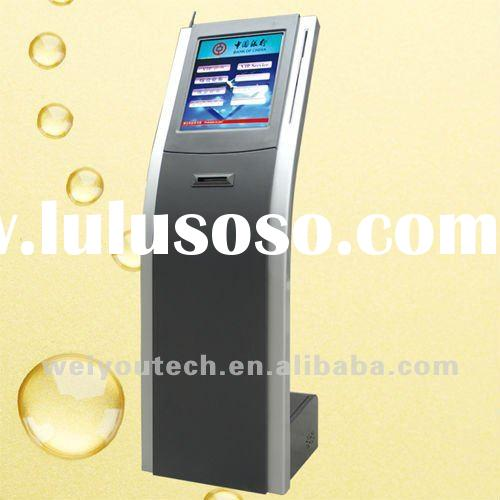 17inch touch screen queue management system kiosk