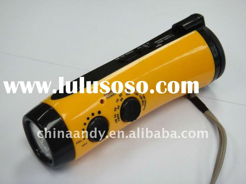 2011 HOT portable led hand lamp dynamo torch,hand dynamo torch radio,dynamo flashlight torch light r