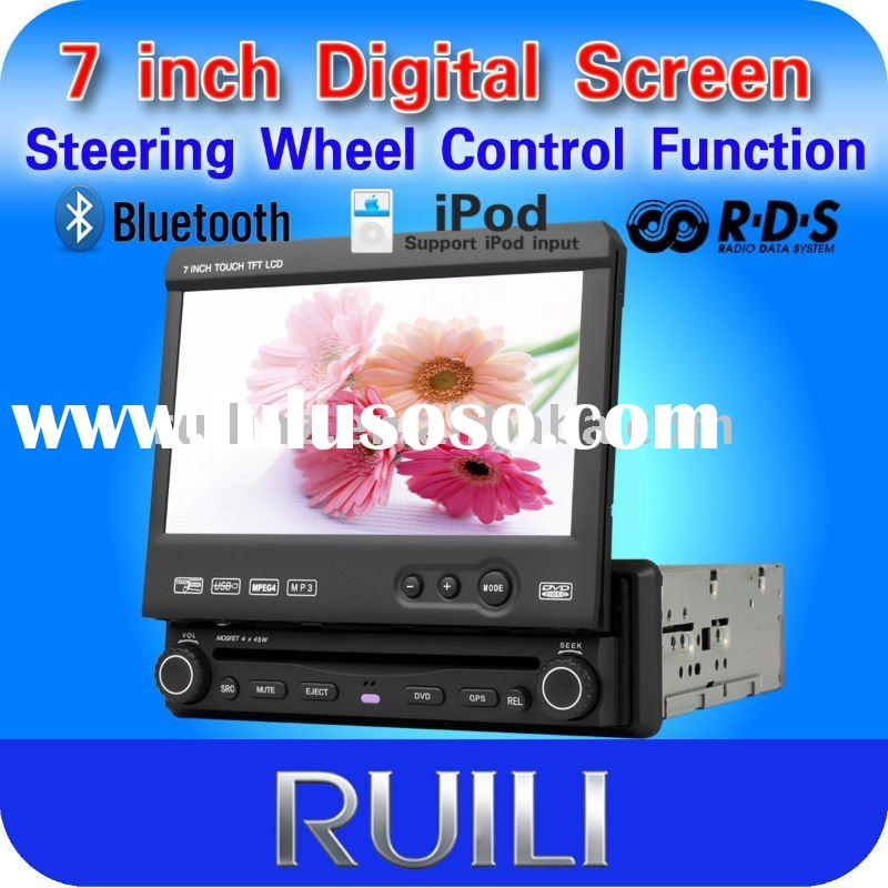 "2011 hot sell 1 DIN 7"" touch screen car dvd with GPS"