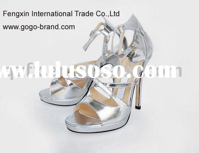 2012 Latest designer high heel sandals , wholesale ladies sandals