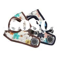 2012 designer PU flower pattern dog harness