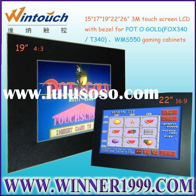 22inch open frame touch screen monitor with bezel for POT O GOLD/WMS slot machine