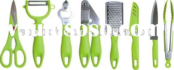 8pcs kitchen gadget/cooking tool sets B-12356789/G-12356789/Y-12356789