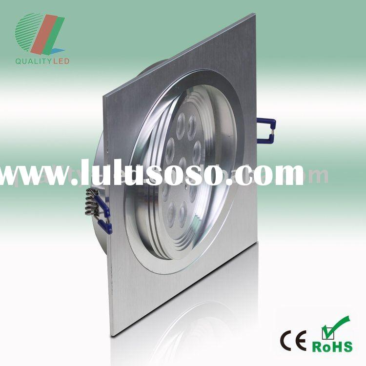 9W 12V LED Square Recessed Downlight