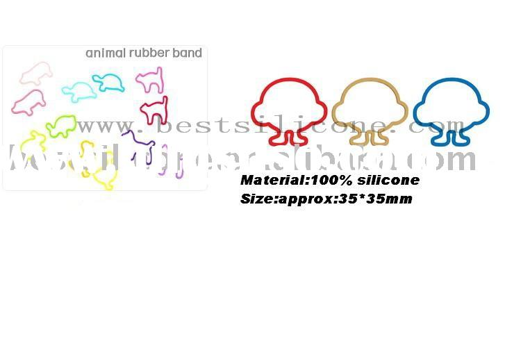 Ametabolic silicone rubber band,silicone hair holder,animal rubber band
