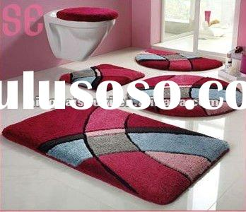 Anti Slip Microfiber 3 Piece Bath Mat Set