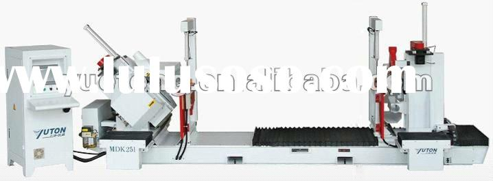 CNC wood door pocket (frame) cutting & connect-hole drilling machine