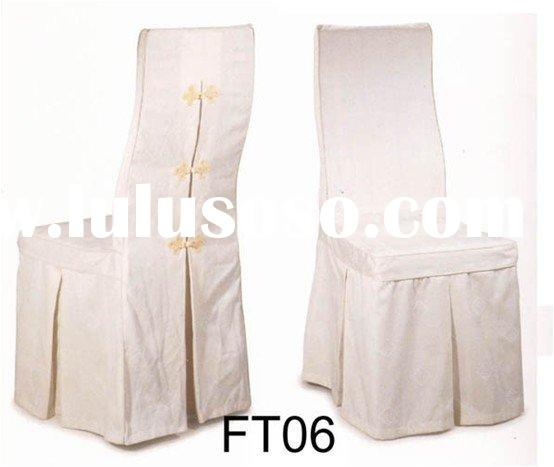 CT0006 Elegant self-tie chair cover for banquet