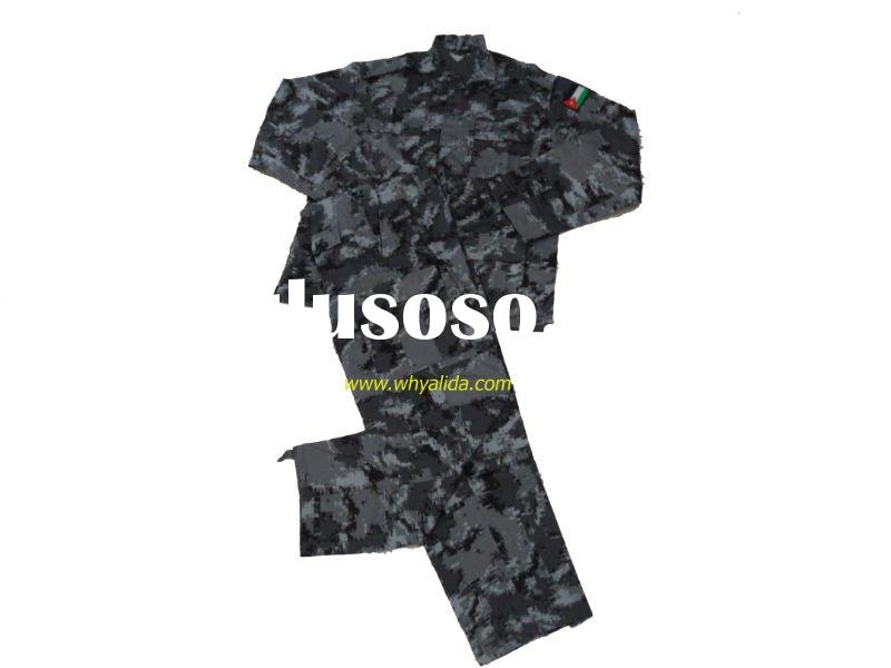 CVC 60/40 Twill BDU gray digital Military Camouflage Uniform
