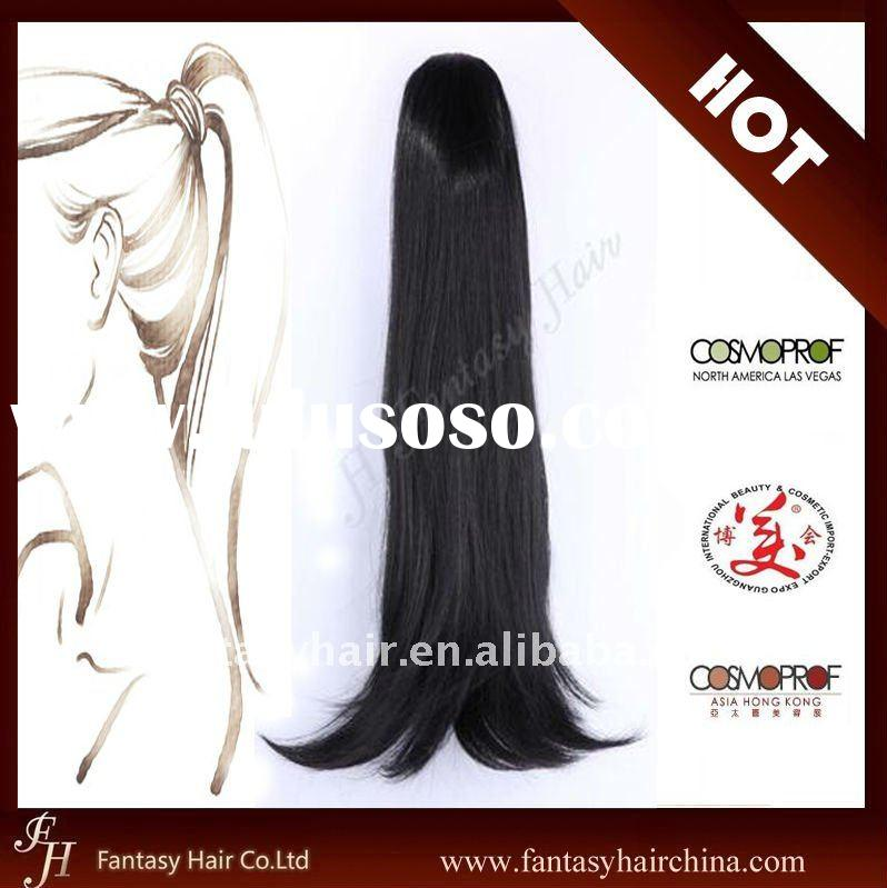 Fantasy Curly Human Hair Drawstring Ponytail Hair Extensions