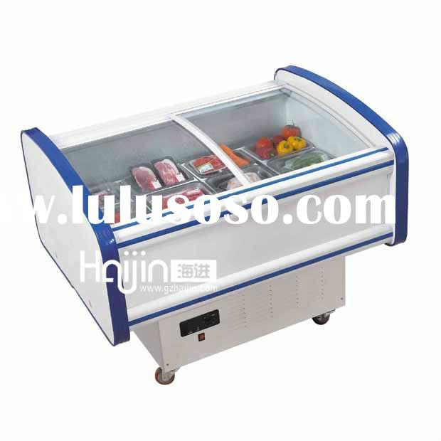 Horizontal Fresh side dish cabinet/Supermarket display refrigerator