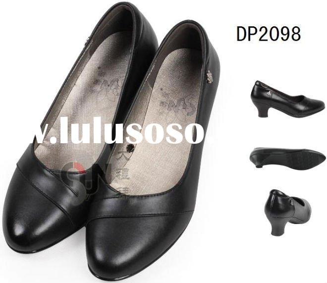 Lady office shoes with fashion design, genuine leather, elegant style.