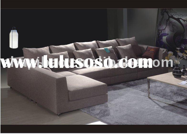 Modern design living room furniture Elegant Fabric corner Sofa couch Set