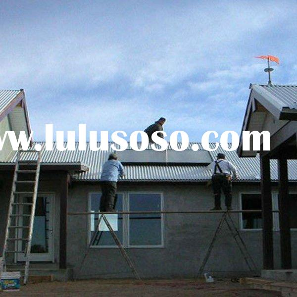 Passive Compact Flat Plate Solar Domestic Water Heater Slant Roof Mounted