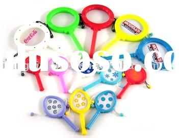 Plastic PP drum-shaped rattle for noise making