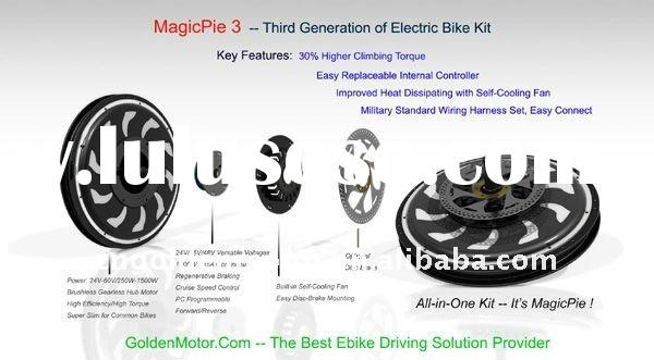 Programmable ! New Version Magic Pie! Electric bicycle / E bike conversion kit / Motor / Wheel 24V/3