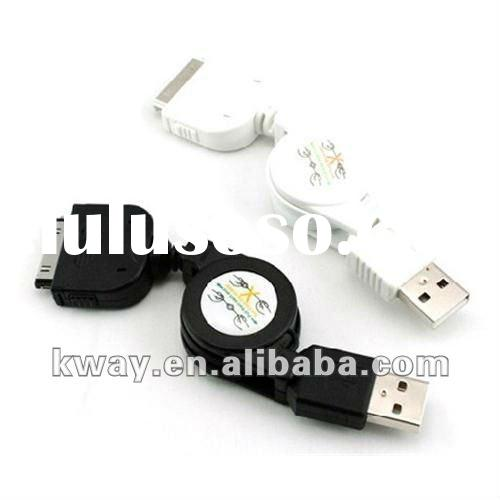 Retractable Retract USB Data Sync Charge Cable Cord for Apple iPhone iPod
