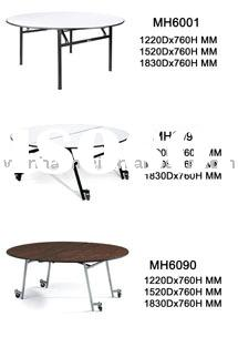 Round hotel banquet table MH6001 foldable,black powder coated finish