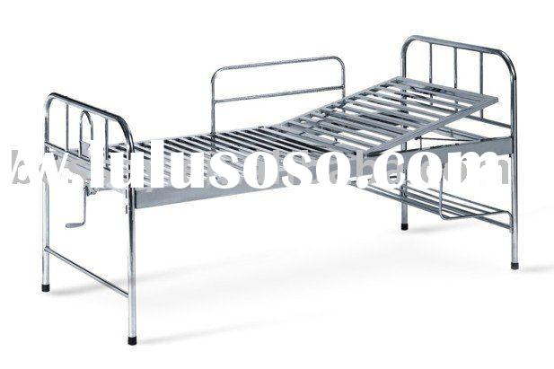 Single Crank Stainless Steel Hospital Bed. Specification: 2000*900*530mm ...