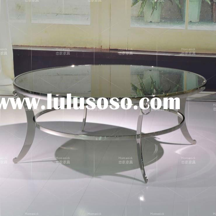 Stainless steel table/Glass coffee table CC-979big