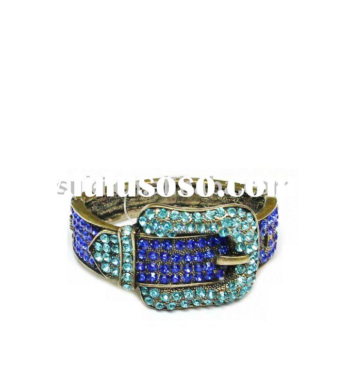 Top Sale Jewelry, Antique Paved Crystal Belt Bangle