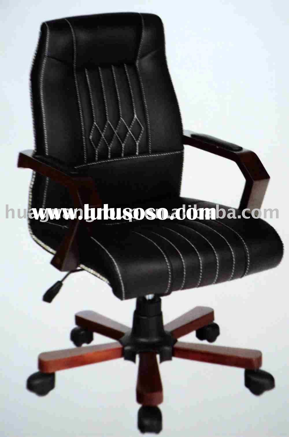 Ultra Soft Leather Middle Back office Chair