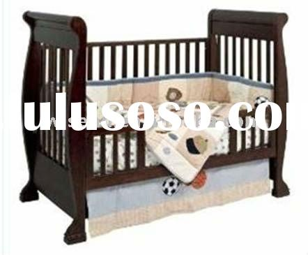 W-BB-65 solid wood baby cot bed