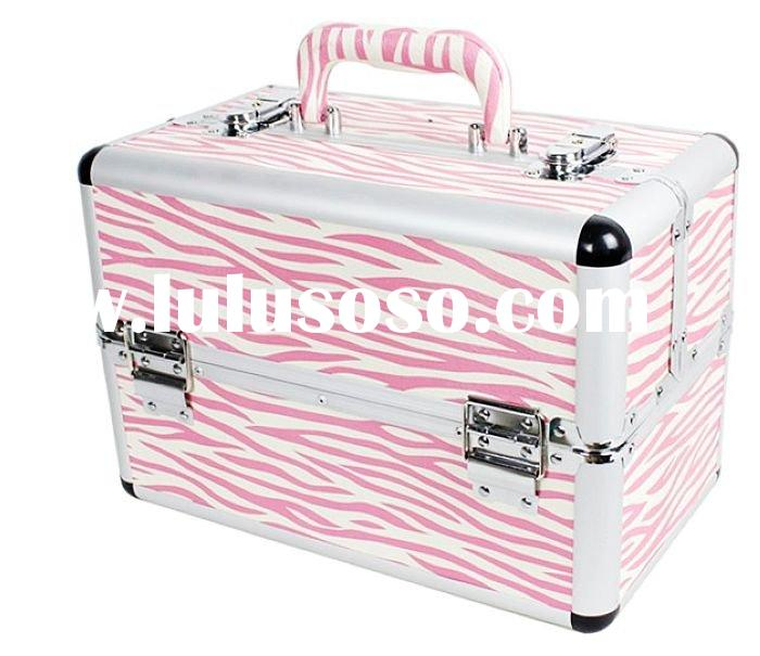 Wholesale and retail good quality make up case / Cosmetics Case/ makeup box 32*19*22CM 2pcs/lot