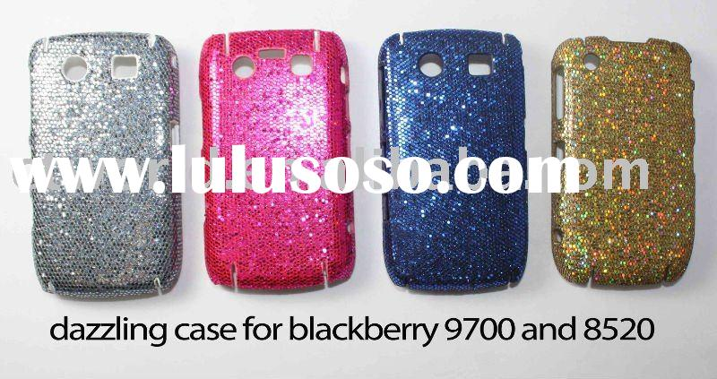 beautiful design with bling case for blackberry curve 8520 mobile phones