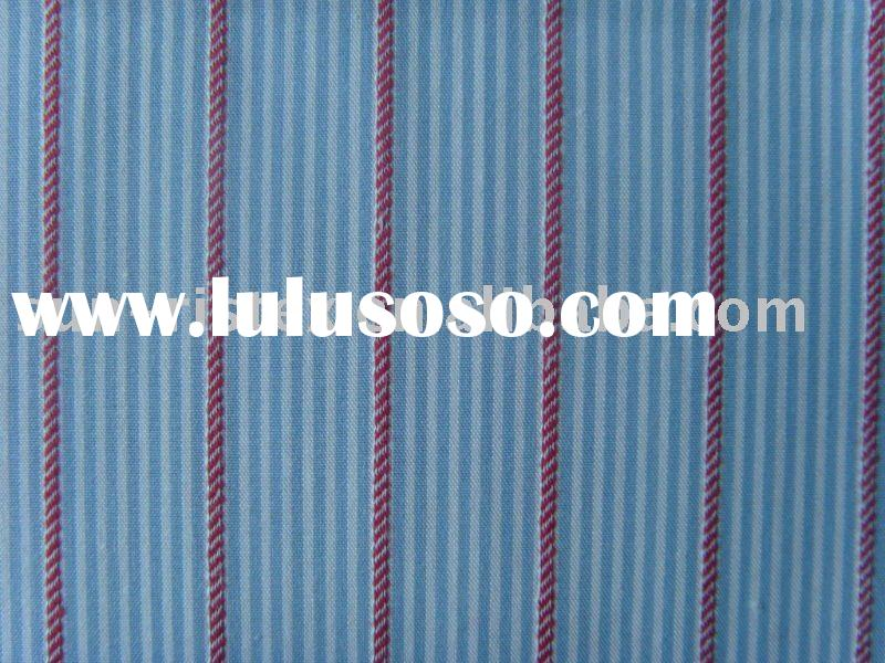 cotton yarn dyed stripe poplin shirt fabric
