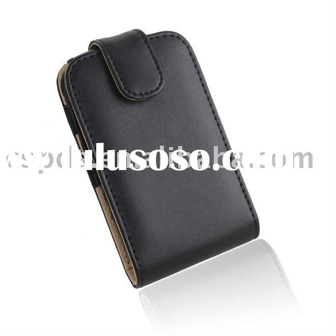 for blackberry Torch 9800 leather cover case,mobile phone case