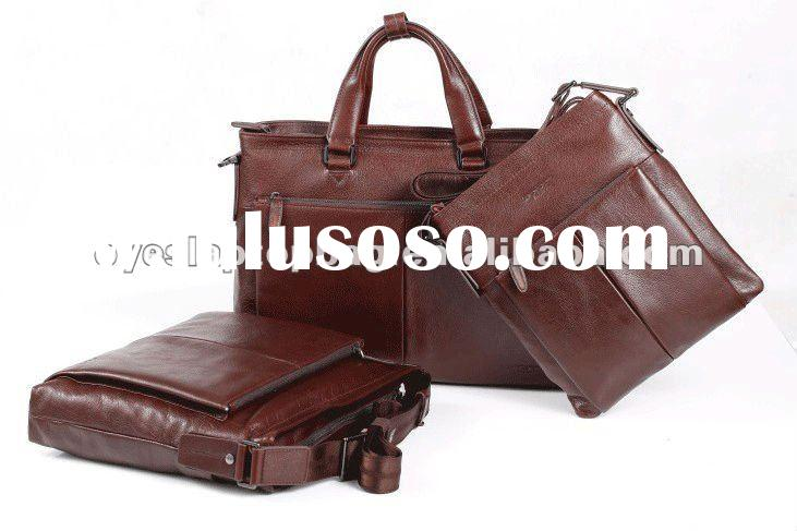 genuine leather classic laptop bag for men