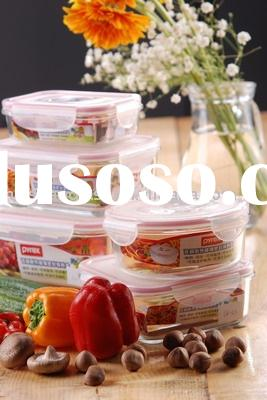 heat resistant glass canister with Plastic lid