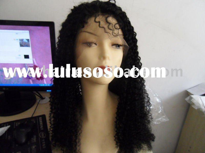 kinky curl cheap high quality indian remy human hair full lace wigs