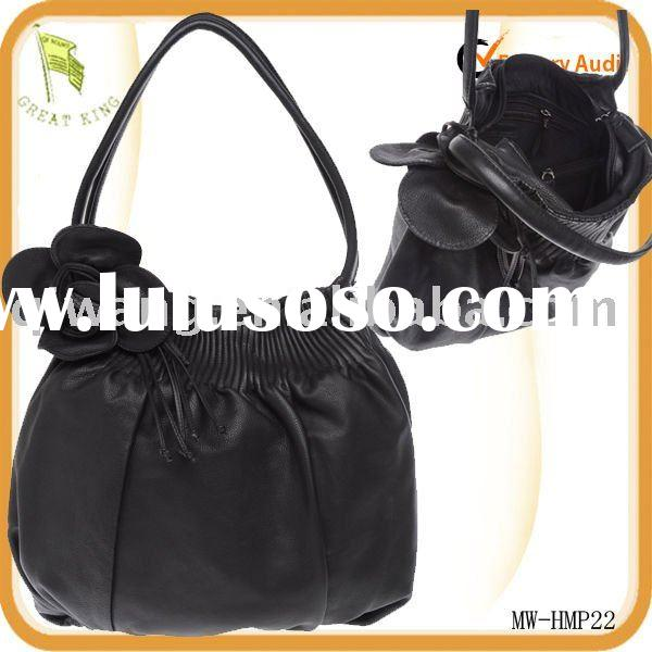leather handbag patterns free with flower decorated