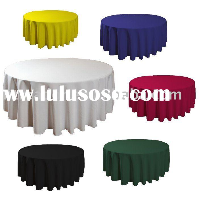 polyester Table clothes, round table cloth, table linen