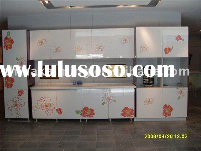 Kitchen cabinet doors pvc laminated mdf board