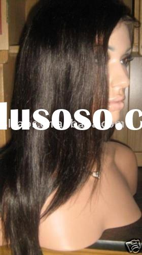 stock ~brown indian remy human hair cheap full lace Wigs