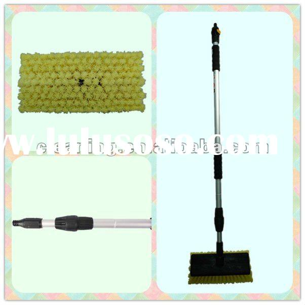 telescopic flow through car cleaning brush/water through car brush