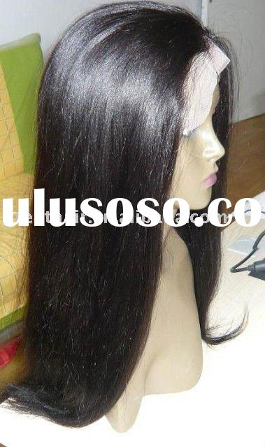 top quality cheap full lace indian remy human hair wigs