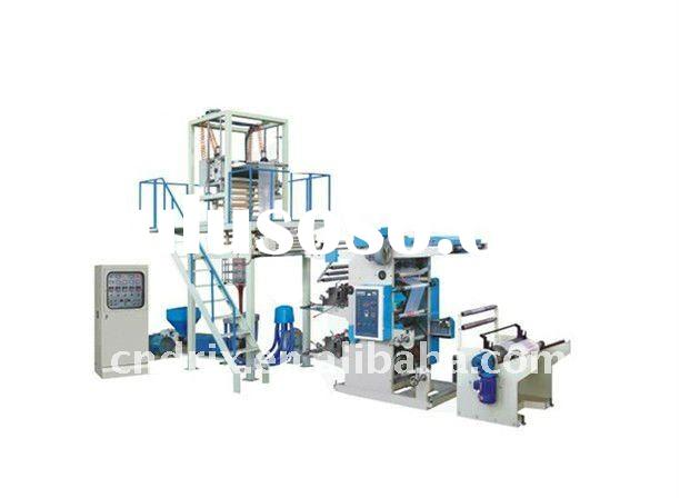 two colors Flexographic Printing Machine and Blowing Film Machine Connect-line