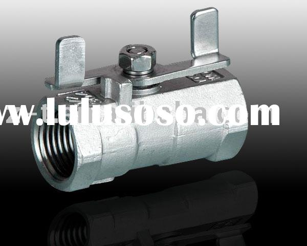 1pc stainless steel ball valve with butterfly handle, industrial valve, mini ball valve