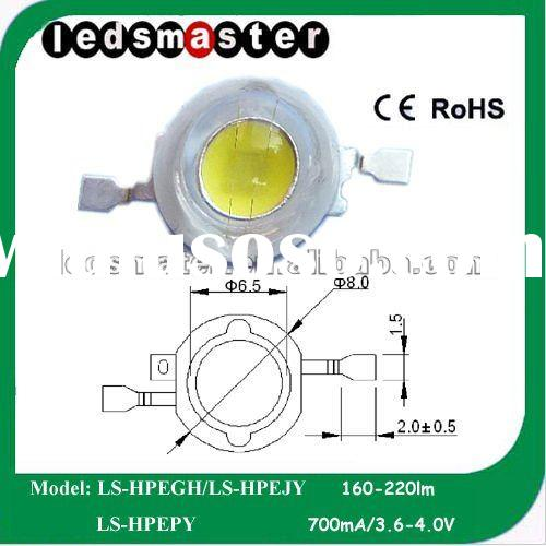 2012 NEW! 1W cool/warm white high power LED with high CRI>90+